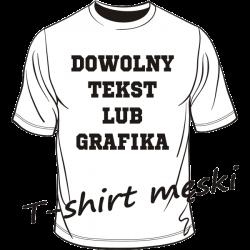 T-shirt męski z własnym dowolnym nadrukiem