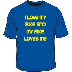 My bike loves me