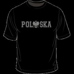 Polska z orzełkiem w kolorze napisu