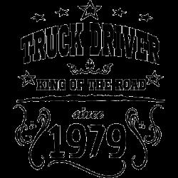 Koszulka dla kierowcy ciężarówki z dowolnym rokiem