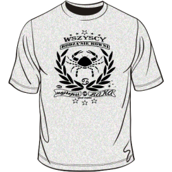 Koszulka ze znakiem zodiaku Rak