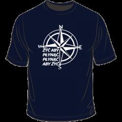 Koszulka z motywem żeglarskim - kompas