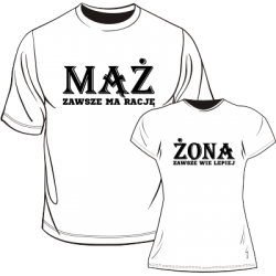 Koszulki dla żony i męża