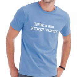 Koszulka z napisem jestem jak wino
