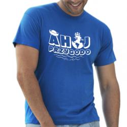 Koszulka dla żeglarzy i marynarzy ahoj przygodo