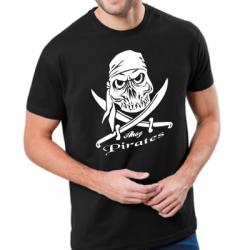 Koszulka piracka z czachą pirata