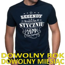 Koszulka legendy rodzą się z dowolnym rokiem i miesiącem