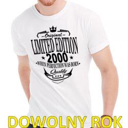 Koszulka urodzinowa limited edition z dowolnym rokiem urodzenia