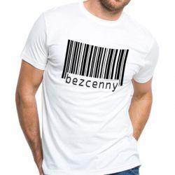 Koszulka bezcenny z kodem kreskowym