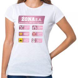 Koszulka Żona SA Firma