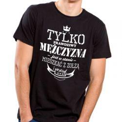 Koszulka prawdziwy mężczyzna może mieszkać z zołzą